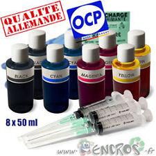 Recharge Kit Encre 8x50ML Couleurs universelles pour CANON