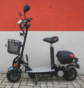 E-Sprinter 500, 36 Volt Lithium-Akku, helmfrei, Zulassung, Blinkanlage
