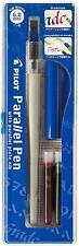 PILOT PARALLEL PEN 6.0mm Calligraphy Pen Set with 2 ink Cartridges Red and Black