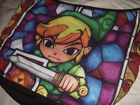 New Nintendo Legend of Zelda Link Wind Walker Stained Glass Hobo Slouch Bag