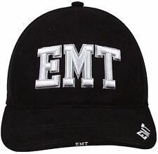 Black EMT Adjustable Cap - Hat Deluxe Raised Embroidery ROTHCO 9381