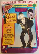 Collegeville Charlie Chaplin Action Jaw Costume w/Mask & Coat Adult