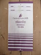 Cambodia Angkor Air Barf Bag Sickness Bag in glorious plum livery!