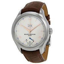 Baume et Mercier Clifton Silver Dial Brown Leather Watch MOA10205