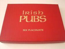 "PIMPERNEL six  10  1/4"" X 7  1/3"" IRISH PUBS placemats cork back"