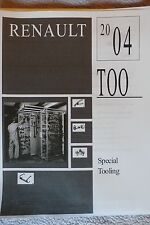 2004 Renault Special Tool Catalog With Model Applications, 96 Pgs, Free US Ship
