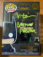Val Kilmer Signed RARE Inscription Batman Forever 289 Funko Pop - BAS M14490