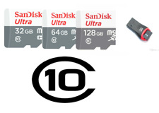 SanDisk Ultra Micro SD Card 32GB 64GB 128GB TF C 10 Android Samsung+card reader