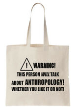 Anthropology Tote Bag Shopper Anthropologist Science Social Cultural Lecturer