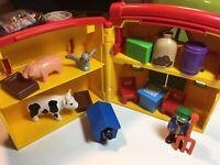 EUC Preowned Playmobil 123 Lot My Take Along Farm 6962 Animal Barn Playset