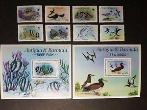 Antigua: 1987 Marine Life complete mint set incl. 2 miniature sheets