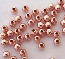 200pcs 2mm 14k ROSE gold filled round seam bead spacer high polish shiny RB22