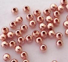 200pcs 2mm 14k ROSE gold filled round seam bead spacer high polish shiny RB22