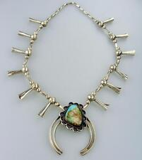 Stunning Sterling Silver Navajo Necklace w/ Turquoise