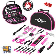 Tool Set 69 Piece Mechanic Carpentry Household Women Ladies Hand Power Kit Pink