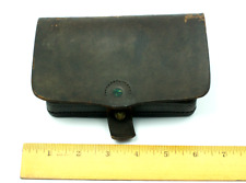 Rare Civil War Union Leather Pistol Cartridge Box US Shepard Very Nice