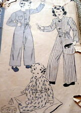 LOVELY VTG 1930s CHILD PAJAMAS HOLLYWOOD Sewing Pattern 4