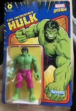 "Marvel Legends Retro Kenner Hasbro Action Figure 3.75"" HULK 2021 NEW IN HAND"