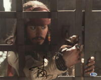 JOHNNY DEPP SIGNED 11X14 PHOTO AUTOGRAPH PIRATES OF THE CARIBBEAN COA BECKETT B