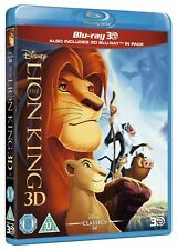 The Lion King 3d Blu-ray and 2d Region- Disney Movie