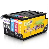 OfficeWorld Replacement for HP 950XL 951XL Ink Cartridges High Yield Compatible
