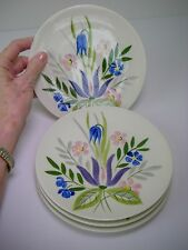 "4 Red Wing Pottery Country Garden 6 5/8"" Bread Dessert Plates"