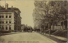 OLD VINTAGE NORTH ST. LOOKING WEST FROM MAIN ST. IN LIMA OHIO 1911 POSTCARD