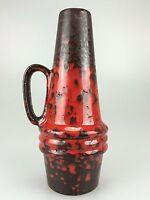 70er Jahre Vase Blumenvase Tischvase Keramik Space Age Design Braun Rot 60s 70s