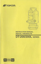 Topcon Digital Theodolite DT-200/200L Series Instruction Manual