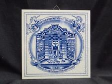 Royal Delft Pill / Apothecary / Pharmacy Tile: Scholarship Program, BW-Y04856