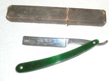 Antique Green Lizard Straight Razor 131D