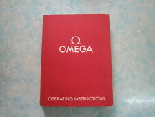AUTHENTIC OMEGA SEAMASTER SPEEDMASTER PROFESSIONAL MOONWATCH BOOKLET INSTRUCTION