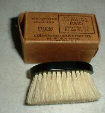NEW Vintage Colgate-Palmolive Horse Hair BRUSH Bakelite Handle in Original Box