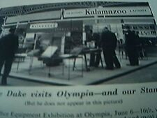 ephemera 1955 kalamazoo olympia exhibition sandilands