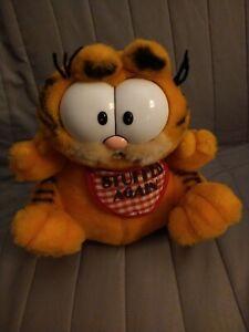 "RARE Official Dakin Stuffed Again GARFIELD Plush Toy 9"" 1981 Fuzzy Doll"