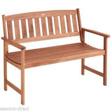VonHaus 2 Seater Wooden Hardwood Garden Bench Patio Outdoor Furniture Seat