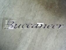 Caravan Elddis Buccaneer Resin Badge/Transfer/Decal Black 450mm x 58mm