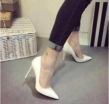 Women High Heel Pumps Stiletto Heels Pointed Toe Party Wedding Club Shoes 10 cm