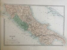 1865 Good size antique SDUK / Walker Map of Italy South