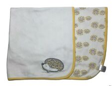 New listing Gymboree Hedgehog Baby Blanket Porcupine Yellow White Gray Security Lovey