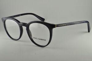 Dolce & Gabbana Eyeglasses DG 3269 3092 Striped Grey On Blue, Size 49-21-140