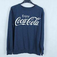 COCA COLA Vintage Womens Blue Crew Neck Hoodie Sweatshirt SIZE Small, S