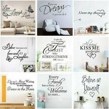 Vinyl Home Room Decor Art Quote Wall Decal Stickers Bedroom Removable Decal DIY'