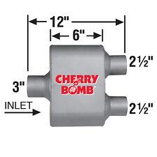Ap Exhaust Muffler Cherry Bomb Extreme 3 Id X 2 12 Od 12 Oal Center Dual