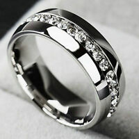 Luxury Couple Stainless Steel Wedding Ring Men/Women Titanium Engagement Band HS