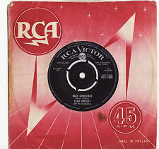 "ELVIS PRESLEY - BLUE CHRISTMAS / WHITE CHRISTMAS Ultrarare UK 7"" Single Release!"