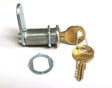 """Heavy Duty 1-1/8"""" Body Length 90 Degree Rotation Cam Lock with Two DUO Keys"""