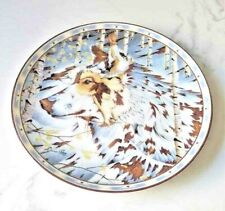 "Bradford Exchange ""Prayer of the Wolf"" Diana Casey Limited Collectible Plate"