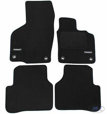 LUKVW006 TAILORED Black floor Car Mats with logo PASSAT CC 2008-2011 oval fix