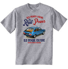 VINTAGE FRENCH CAR RENAULT 30 TS - NEW COTTON T-SHIRT